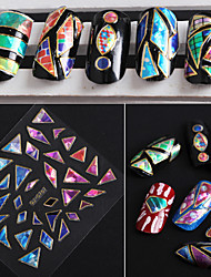 Mix 24pcs/pack Gem Irregular Nail Stickers