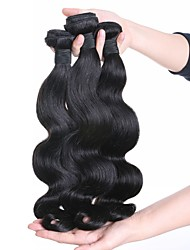 Peruvian Remy Hair Extension Body Wave Natural Black Hair Weaves 100g/piece 4pieces Package