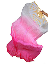 Belly Dance Stage Props Women's Performance Silk Ruched 1 Piece Wand