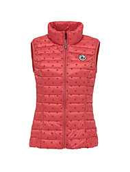 Women's Regular Padded Coat,Simple Active Casual/Daily Galaxy-Special Leather Types White Goose Down Sleeveless Round Neck