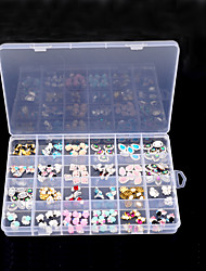 1pcs 24 Slots Transparent Plastic Storage Box Organizer Case Nail Art Gems Jewelry Beads Decoration Container