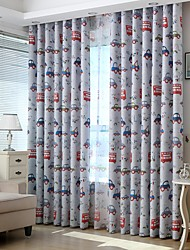 Two Panels Europe simple cartoon style children room sitting room the bedroom  restaurant curtains