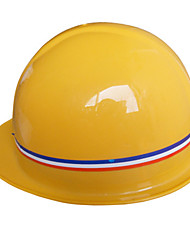 Yellow ABS Series Of Plastic Helmets Site Construction Anti - Smashing Impact Site Caps