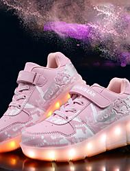 Para Meninos-Tênis-Light Up Shoes Conforto-Rasteiro-Azul Rosa Cinza-Sintético-Casual