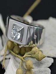 Ringe Party Schmuck Herren Ring 1 Stück,Eine Größe Silber