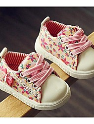 Girl's Sneakers Comfort Canvas Casual Green / Pink