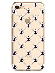 Pour Motif Coque Coque Arrière Coque Ancre Flexible TPU pour Apple iPhone 7 / iPhone 6s/6