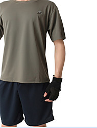 Men's Short Sleeve Running T-shirt Clothing Suits Quick Dry Comfortable Summer Sports WearFishing Exercise & Fitness Leisure Sports
