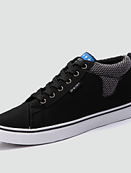 Men's Sneakers Spring / Fall Comfort Fabric Casual Flat Heel Lace-up Black / Blue / Red Sneaker