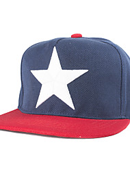 Unisex Five-pointed Star Embroidered Printed Flat Baseball  Hip-Hat Cap