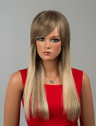 Fashion Long Capless Wigs Natural Straight Human Hair Ombre Wigs