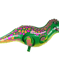Balões Decoração Para Festas Dinossauro alumínio Verde Para Meninos / Para Meninas 5 a 7 Anos