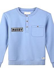 Trenduality® Herren Rundhalsausschnitt Lange Ärmel T-Shirt Hellblau - 47018