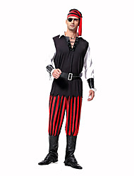 Pirate Festival/Holiday Costumes Top / Pants / Headpiece / Belt / Sleeves / Patch  Male Polyester