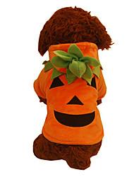 Dog Costume / Hoodie Orange Dog Clothes Winter Pumpkin Cute / Halloween