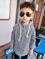 Boy Casual/Daily Striped Suit & Blazer,Cotton Winter Long Sleeve