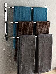 weiyuwuxian® 304 inoxydable salle de bains d'acier trois barres porte-serviettes finition polie