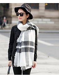 Women Wool Scarf,Casual RectangleCheck