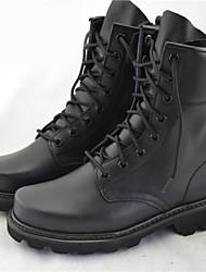 Черный-Мужской-На каждый день-Кожа-На низком каблуке-Удобная обувь-Ботинки