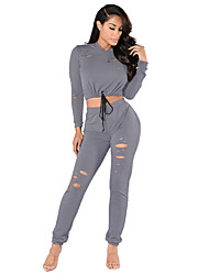 Running Tracksuit / Tops / Bottoms Women's Long Sleeve Breathable / Lightweight Materials / Comfortable PolyesterGolf / Leisure Sports /