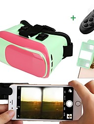 3D VR Glasses Virtual Reality Headset with 3D Mini Camera Lens Make 3D Movie Game for Smartphone with Gamepad