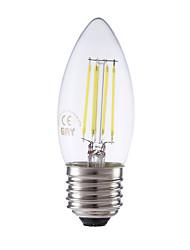 3.5 E26/E27 Ampoules à Filament LED B 4 COB 350/400 lm Blanc Chaud / Blanc Froid Gradable AC 100-240 V 1 pièce