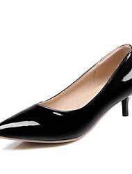 Feminino-Saltos-Sapatos com Bolsa Combinando-Salto Agulha-Preto / Amarelo / Vermelho / Branco / Amêndoa-Courino-Casual / Festas & Noite
