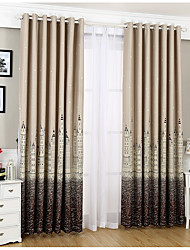 One Panel Curtain Modern Kids Room Poly / Cotton Blend Material Blackout Curtains Drapes Home Decoration For Window