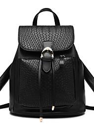 M.Plus® Women's Fashion Snake Print Barrel PU Leather Backpack
