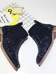 European Grand Prix 2016 new wild tide sequined elastic band round Duantong thick with British knight boots with flat