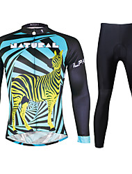 Ilpaladin Sport Men Long Sleeve Cycling Jerseys Suit CT726