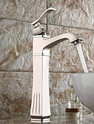 High Quality Nickel Brushed Personalized Single Handle Bathroom Sink Faucet(Hight)