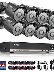ANNKE 8CH HDMI DVR 1080N HD Video 1.0MP Night Vision IR Security Camera System
