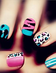 24 штук моды искусства ногтя продукты печатания поддельные ногтей патч