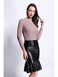 jupe hanche paquet jupe en cuir chaud aliexpress jupe en cuir jupes taille haute pu femme volanté modèle tir réel