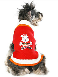 Dog Sweater Red Dog Clothes Winter / Spring/Fall Characters Cute / Casual/Daily / Keep Warm