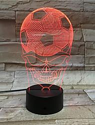 Football Skeleton Face 3D Visual Art Lights Colorful Small Night Light Creative Lamp
