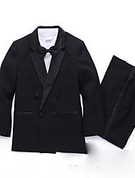 Polester/Cotton Blend Ring Bearer Suit - Five-piece Suit Pieces Includes  Shirt / Vest / Bow Tie
