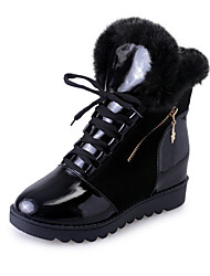 Women's Boots Winter Comfort Synthetic Increased Within Thick Warm Dress / Casual Low Heel Chain / Lace-up