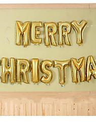 l'arrangement film d'aluminium de décoration de ballons la veille de Noël