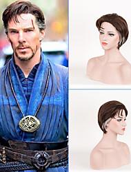 nouveau médecin de MOVICE étrange cosplay Benedict Cumberbatch cosplay synthétique brun court unisexe perruques cheveux costume pour homme