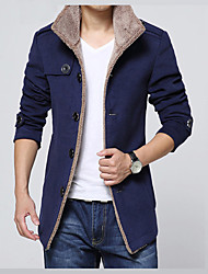 Men's Daily Vacation Office & Career Religious Celebrations Classic & Timeless Elegant & Luxurious Winter Jacket,Solid Solid ColorShirt