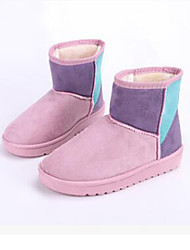 Women's Boots Winter Other Comfort Fur Casual Split Joint Blue Brown Pink Red Beige