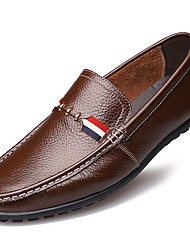 Men's Loafers & Slip-Ons Spring / Summer Others Leather Outdoor / Office & Career / Casual Flat Heel Others Black / Brown / Coffee Others
