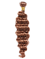 100g/pc Deep Wave 10-18Inch Color #30 Medium Auburn Human Hair Weaves