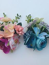 Bouquets de Noiva Rosas Lírios Alfinetes de Lapela Casamento Festa / noite Cetim Strass