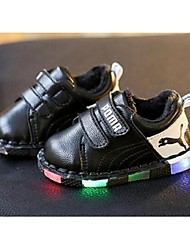 Boy's Sneakers Comfort Leather Casual Black / Silver
