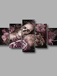 Print Halloween gift Skull rose picture poster modern wall art For Home Decoration (No Frame)