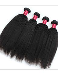 Brasileiro Cabelo Remy Extensão de Cabelo Humano Natural Retas Remy tece cabelo humano