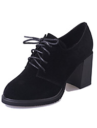 Men's Boots Winter Comfort PU Casual Low Heel Lace-up Black / Blue / Brown Others